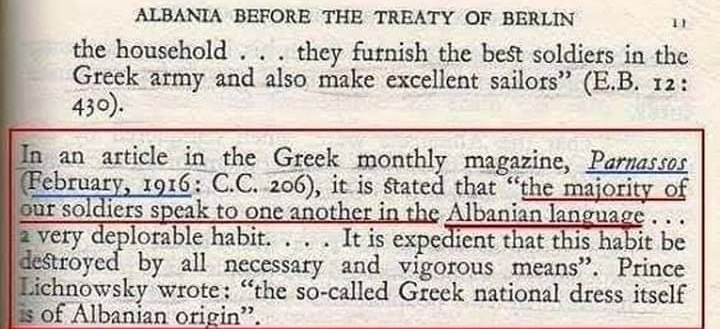 "US newspaper says that the Greek ""national costume"" of the honour guard Evzoni is originally Albanian"